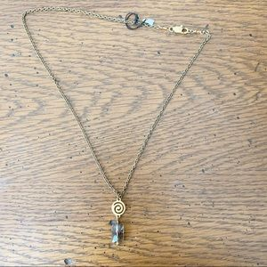 Gold Necklace with Stone NWT